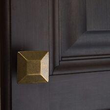 "5101-AB 1-3/8"" Square Cabinet Knob - Antique Brass"