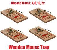Reusable Wooden Mouse Trap Mice Rat Vermin Rodent Pest Control Mousetraps Traps