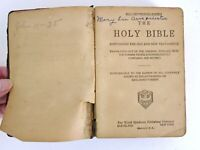 Antique Holy Bible King James World Syndicates Publishing Armpriester Family