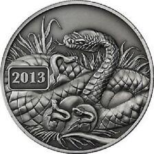 NUOVA SERPENTE LUNARE SERIE 2013-Tokelau 5 DOLLARO 1 OZ (ca. 28.35 g) .999 SILVER COA