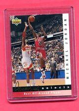 MICHAEL JORDAN CHICAGO BULLS 1992 UPPERDECK JERRY WEST SELECTS #JW8