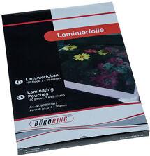 Laminierfolie DIN A4 80mic micron 100 Stück Maße: 216 x 303 mm Hochglanz NEU+OVP
