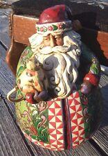 Jim Shore Santa Claus Christmas Vintage BIG 2005 CAT Heartwood Creek vintage art