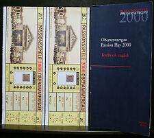 PASSIONSSPIELE, OBERAMMERGAU, PASSION PLAY 2000, ENGLISH, DEUTSCH + 2 TICKETS