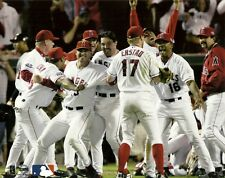 ANAHEIM ANGELS 8x10 Team Celebration Photo 2002 WORLD SERIES CHAMPS Beat Giants!