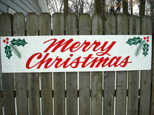 MERRY CHRISTMAS Banner Sign New