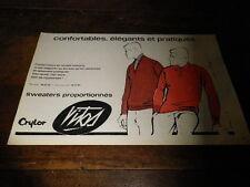 CRYLOR - VITOS - SWEATERS - Publicité de presse / Press advert !!! 1962 !!!