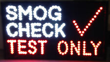 Ultra Bright Animated Led Neon Light Auto Shop Smog Check Test Only Sign Sc88