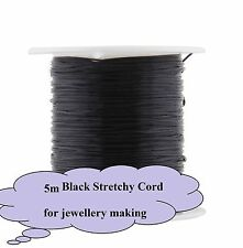 5x Metres Black Elastic Stretchy String Cord Beading Jewellery  AUS SELLER 21