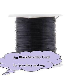 5x Metres Black Elastic Stretchy String Cord Beading Jewellery  AUS SELLER 21