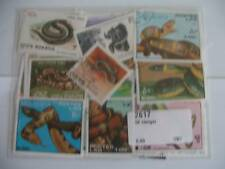 TIMBRES REPTILES / SERPENTS : 50 TIMBRES TOUS DIFFERENTS / STAMPS SNAKES REPTILE