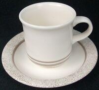 "Pfaltzgraff Stoneware Sand Drift Cup & Saucer Set Flat 3 1/4"" MInt Condition"
