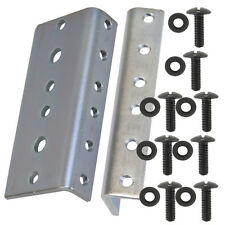 Rack Rail 2U, 2 rack space 4 pairs zinc plated 10/32 thread, with rack screws