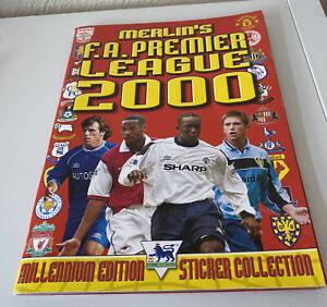 Merlin - Premier League 2000 - Empty Album with inserts