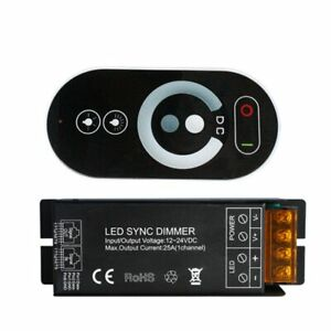Single Color LED Dimmer Sync Controller DC12-24V 25A with Touch Type RF Remote