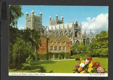 John Hinde Colour Postcard Cathedral & Bishops Palace Exeter Devon unposted
