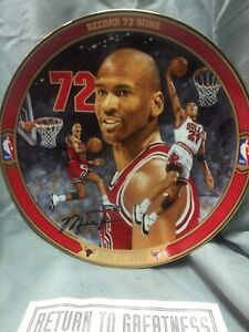 Vintage Michael Jordan Collector Plate Plate Original Signed