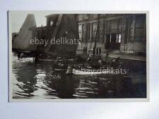 TRIESTE pescheria barca vela pescatori animata vecchia cartolina 28