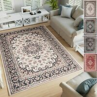 Traditional White / Blue / Grey / Red Classic Rug Small Extra Large 10mm Pile
