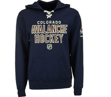 NHL Colorado Avalanche Lace-Up Sweatshirt Hockey Jersey New Mens 2XL