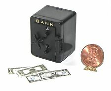 Dollhouse Miniature Bank Safe with Money Carradus Minis 1:12  Scale