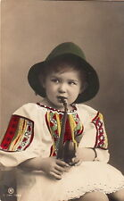 CHILDREN : Young Girl  'smoking'  a pipe -RP-  PPH
