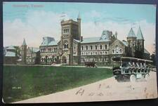 "CANADA TORONTO 1908 view ""Imperial Coaches"" bus in front  of UNIVERSITY"
