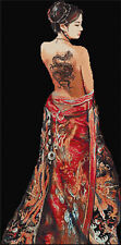 Mai Counted Cross Stitch Kit Beautiful! Statement piece! Oriental people