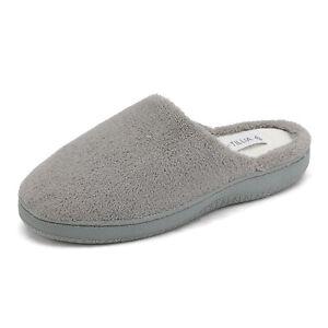 Women's Memory Foam Slippers Slip On Indoor Outdoor House Comfortable Shoes