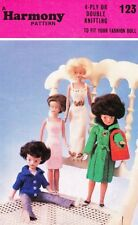 VINTAGE SINDY/BARBIE SET - COPY doll knitting pattern