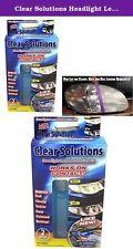AS SEEN ON TV CAR HEADLIGHT RESTORATION KIT LENS CLEANER RESTORATION 2 PC KIT