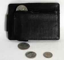 Genuine Leather Money Clip Wallet Belt Slim Double Sided Credit Card ID Pocket