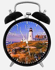 "Light House Alarm Desk Clock 3.75"" Room Office Decor X23 Will Be a Nice Gift"