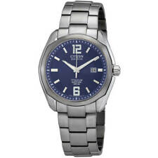 Reloj Para Hombre Citizen Eco-drive Chandler Esfera Azul Pulsera De Titanio BM7080-54L