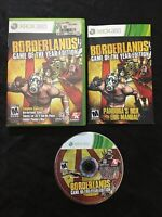 Borderlands Game of the Year Edition — Manual Included! (Xbox 360, 2009)