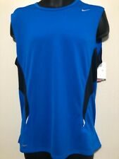 New Nike Fit Dry / Nike Plus Running L jersey blue/black/reflective