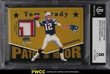 2003 Fleer Platinum Of Honor Tom Brady PATCH /220 #PH-TB BGS 8 NM-MT