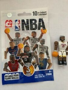LeBron James Cavaliers NBA C3 Buildable Mini Figure White Jersey