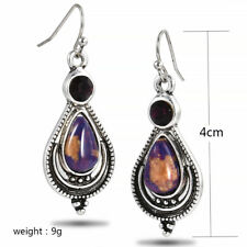Hot Vintage Boho 925 Silver Purple Copper Turquoise Hook Earrings Dangle Earring