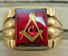 Vintage 1950's Masonic 10K Gold Ring