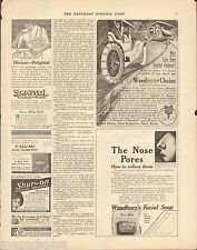 1911 Weed Chain Tire Grip  Original Antique Magazine Print Ad
