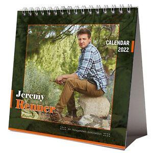 Jeremy Renner 2022 Desktop Calendar NEW Desk 12 Months Pretty Man