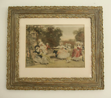 French Country Print In Truly Magnificent Carved Frame - (Good For Other Uses)