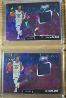 2019 Player of the Day Ja Morant SP Cracked Ice RC Jersey Card /99 ROY LOT OF 2