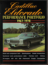 Cadillac Eldorado Performance Portfolio 1967-1978 Road Tests Specs Data History+