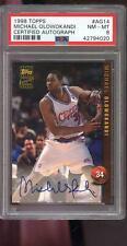 1998-99 Collector's Edge Michael Olowokandi RC AUTO Autograph PSA 8 Graded Card