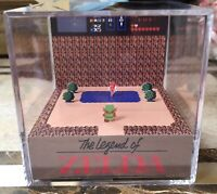 The Legend Of Zelda 3D Cube Handmade Diorama - Shadowbox - Nintendo NES - Fanart