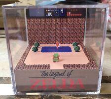 The Legend Of Zelda 3D Cube Handmade Diorama - Shadowbox - Nintendo NES - Fanart