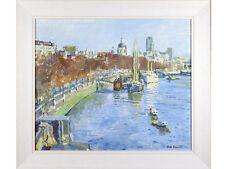 *SALE* Faith Sheppard 'HMS Discovery & St Paul's, London' - oil on board. 1950's