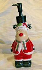 Ceramic Reindeer Soap Lotion Pump Dispenser in Red Santa Suit Holiday Christmas